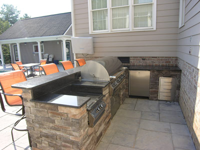 ... Completed Outdoor Kitchen Installed On Patio